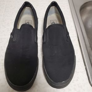 Vans Classic Skate Shoe Slip On Black Canvas HOT!!